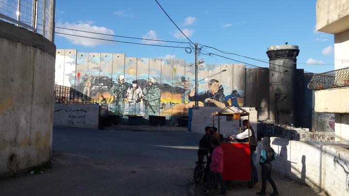 Campo refugiados en Belén