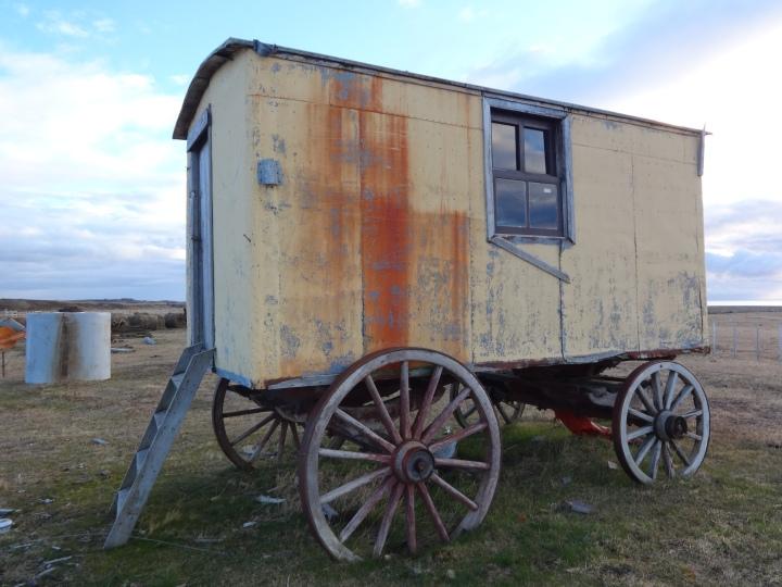 "Caravana, estancia ""Guayrabo"". Punta Arenas."